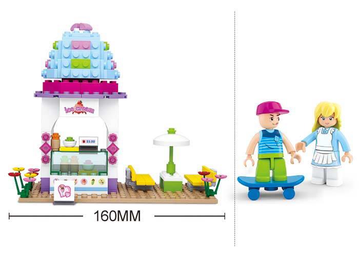 Sluban Ice Cream Shop Construction Building Blocks