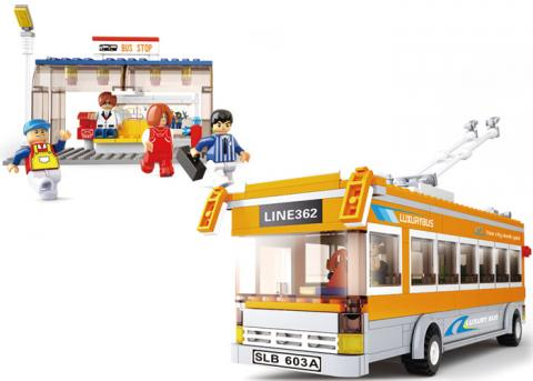 SLUBAN BUS Educational Block Toys SET TOY