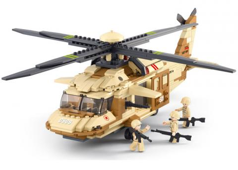 SLUBAN Educational Block Toys BLACK HAWK HELICOPTER KIT
