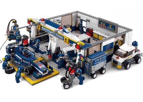 SLUBAN Educational Block Toy F1 GARAGE