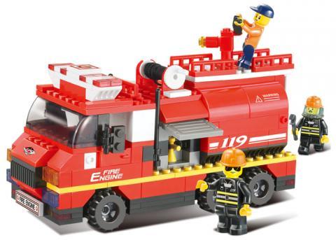 SLUBAN Educational Block Toy SET FIRE ENGINE