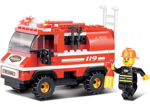 SLUBAN Educational Block Toy FIRE TRUCK SET