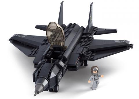 SLUBAN Educational Block Toys FIGHTER AIRCRAFT TOY