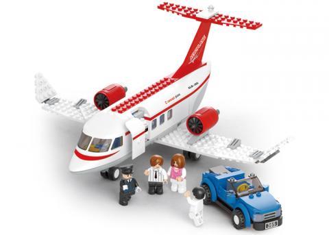 SLUBAN Educational Block Toy PRIVATE AIRPLANE SET