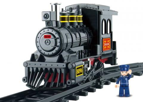 SLUBAN Educational Block Toys RAILWAY STATION CITY