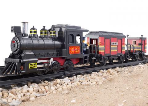 SLUBAN Educational Block Toys RAILWAY STATION SET
