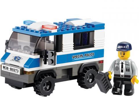 SLUBAN POLICE VAN Educational Block Toys