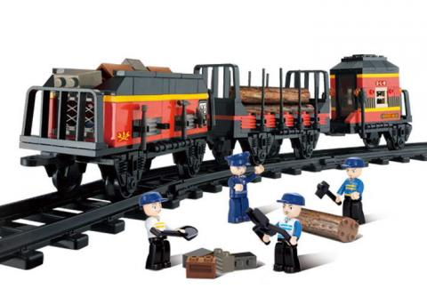 Sluban Educational Block Toys Cargo Bullet Train Set