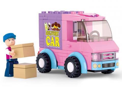 Sluban Lego Distribution Vehicles Toy Set