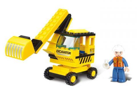 Sluban Educational Block Toy Excavator