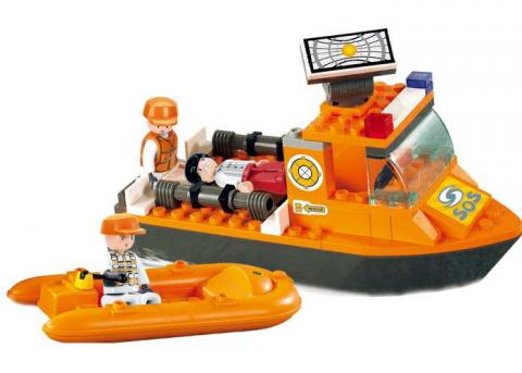 Sluban Educational Block Toys First Aid Boat Set