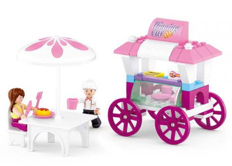 Sluban Educational Block Toy Toys Food Carriage