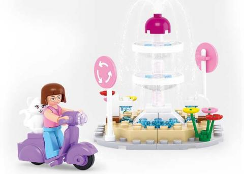 Sluban Educational Block Toy Fountain