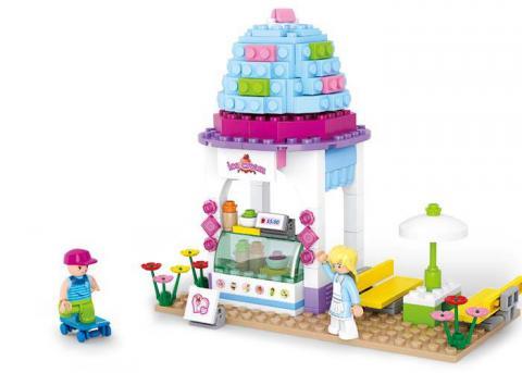 Sluban Educational Block Toy Kits Ice Cream Shop