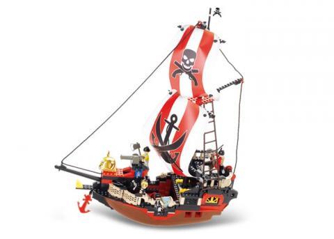 SlubanEducational Block Toys Large Pirate ShipM38-B0127 Set