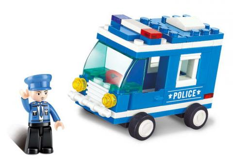Sluban Educational Block Toy Police Car City
