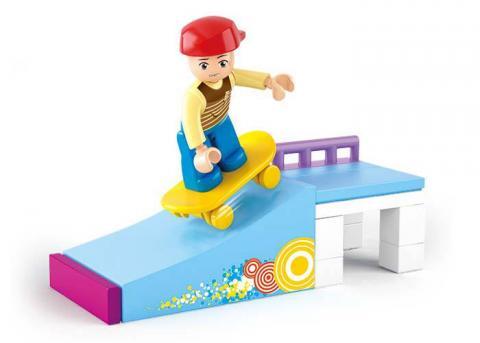Sluban Educational Block Toy Skate Boy Toy