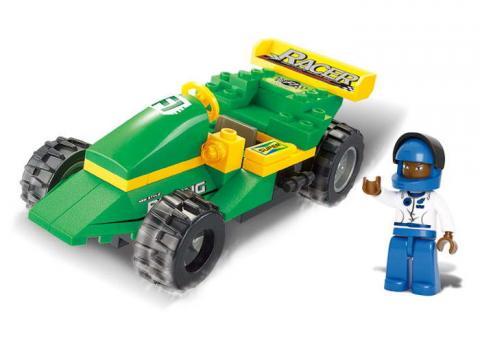 Sluban Educational Block Toy Track Transporter
