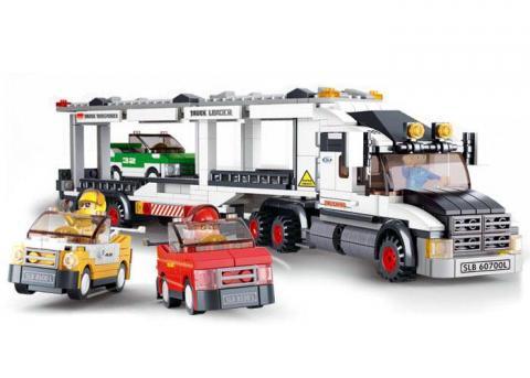 Sluban Educational Block Toy Track Transporter City