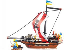 Educational Block Toys Toy Pirate Theme Set