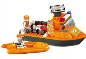 Sluban Educational Block Toys First Aid Boat Set